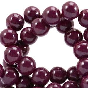 Glaskraal opaque 6mm fig purple