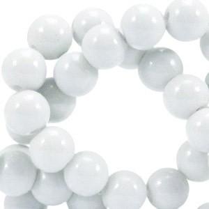 Glaskraal opaque 6mm light grey