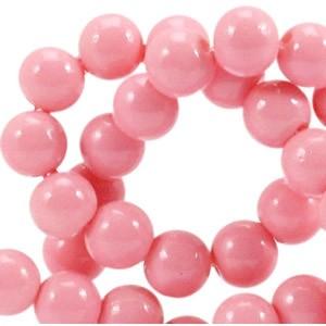 Glaskraal opaque 6mm rouge pink