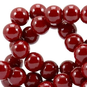 Glaskraal opaque 6mm ruby red
