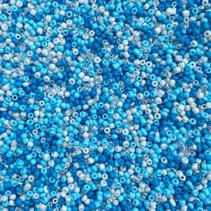 Glaskralen rocailles 11/0 2mm rond 8 gram mix 38