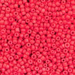 Glaskralen rocailles 12/0 2mm rond 8 gram azalea red