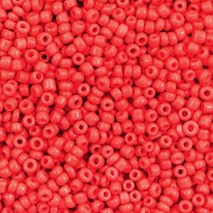 Glaskralen rocailles 12/0 2mm rond 8 gram fiery red