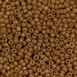 Glaskralen rocailles 12/0 2mm rond 8 gram sierra brown