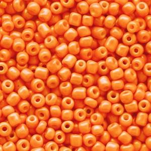 Glaskralen rocailles 12/0 2mm rond 8 gram persimmon orange