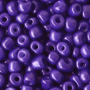Glaskralen rocailles 6/0 4mm rond 8 gram imperial purple