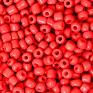 Glaskralen rocailles 8/0 3mm rond 8 gram amaranth red