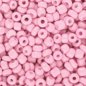 Glaskralen rocailles 8/0 3mm rond 8 gram azalea pink