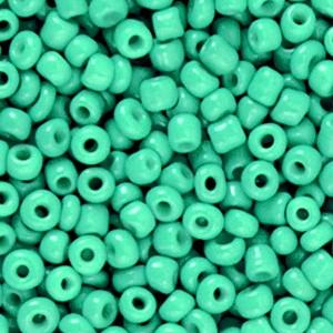 Glaskralen rocailles 8/0 3mm rond 8 gram bright jade green