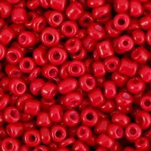 Glaskralen rocailles 8/0 3mm rond 8 gram burgundy red