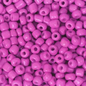 Glaskralen rocailles 8/0 3mm rond 8 gram cerise pink