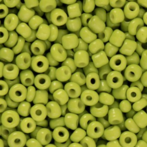 Glaskralen rocailles 8/0 3mm rond 8 gram light olive green