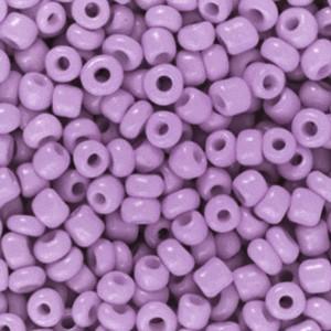 Glaskralen rocailles 8/0 3mm rond 8 gram lilac purple