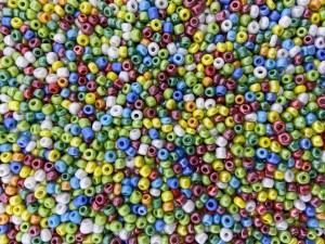 Glaskralen rocailles 8/0 3mm rond 8 gram mix 16