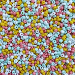 Glaskralen rocailles 8/0 3mm rond 8 gram mix 40