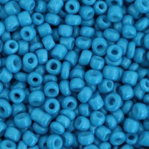 Glaskralen rocailles 8/0 3mm rond 8 gram palace blue