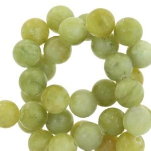 Half edelsteen kraal rond 8mm agaat olive green