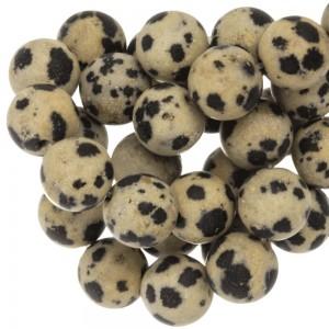 Half edelsteen kraal rond 8mm dalmatian