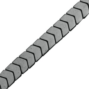 Hematite kraal arrow 6x5mm anthracite grey
