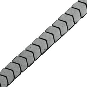 Hematite kraal arrow 6x5mm anthracite grey
