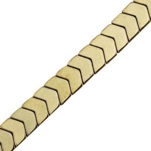 Hematite kraal arrow 6x5mm antique gold