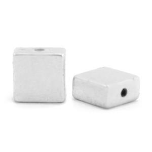 Hematite kraal flat square 4x2mm silver