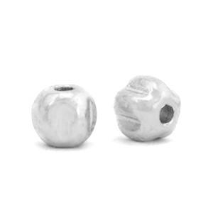 Hematite kraal pentagon 4mm silver