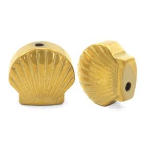 Hematite kraal schelp 8mm gold