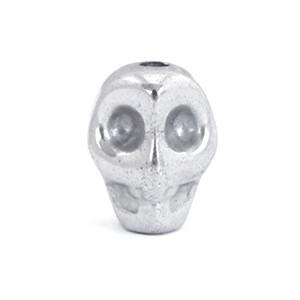Hematite kraal scull 8x6mm light grey