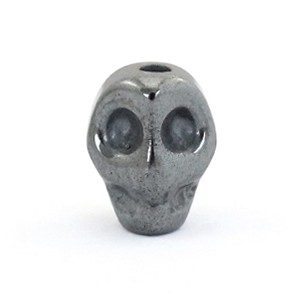 Hematite kraal scull 8x6mm anthracite grey