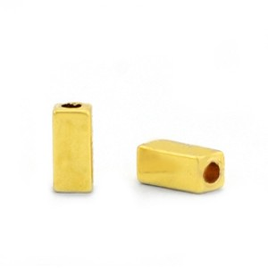 Hematite kraal tube 3x1mm gold