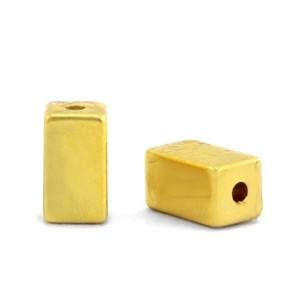 Hematite kraal tube 4x2mm gold