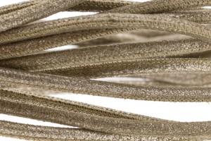 High Quality gestikt leer rond 4mm met print vintage goud per 20cm