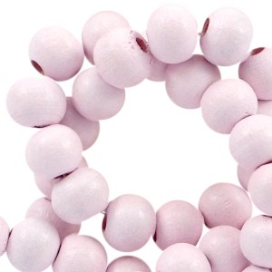 Houten kraal rond 8mm pink champagne
