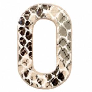 Imitatie leer hangers open ovaal snake beige 44x28mm (per stuk)