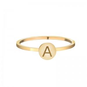 Initial ring A - Z maat 16 goud
