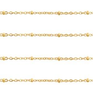 Jasseron balletjes stainless steel 2mm goud per meter
