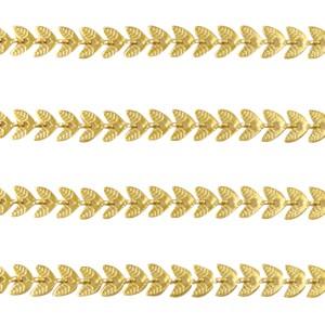 Jasseron leafs goud stainless steel 6x4mm