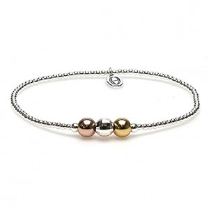 karma armband 925 sterling zilver discobal triple colour