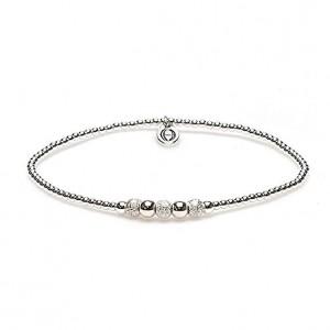 karma armband 925 sterling zilver round sand