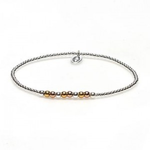 karma armband 925 sterling zilver triple colour