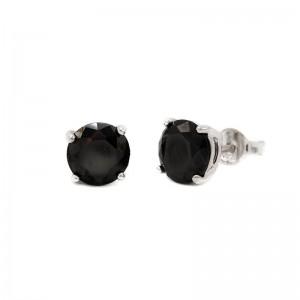 Karma black zirconia earstuds 3-4-5-6-7MM 925 sterling zilver (per paar)