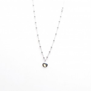Karma dots ketting disc 925 sterling zilver 50-57cm