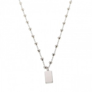 Karma dots ketting rectangle 925 sterling zilver 50-57cm