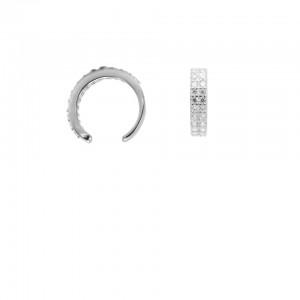 Karma earcuff double zirconia 925 Sterling Silver (1piece)