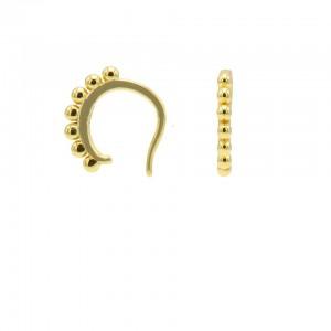 Karma earcuff plain 7 dots 925 sterling silver goudkleurig (1 piece)