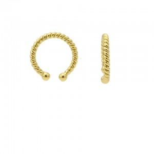Karma earcuff plain twister 925 sterling silver goudkleurig (1 piece)