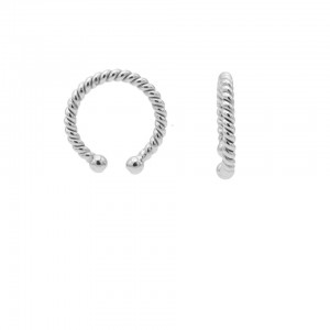 Karma earcuff plain twister 925 sterling zilver (1 piece)
