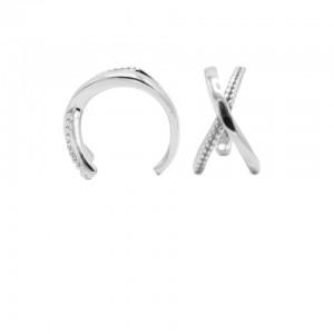 Karma earcuff plain X 925 sterling zilver (1 piece)