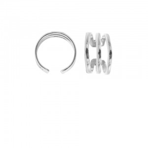 Karma earcuff triple plain 925 sterling zilver (1 piece)